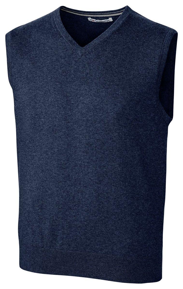 Cutter & Buck Men's Machine Washable Lakemont V-Neck Sweater Vest, Liberty Navy, XX-Large