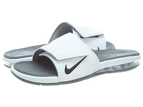 sports shoes b77c8 c2968 Nike Air Lebron Slide 3 Elite Men Slider White Cool Grey Vivid Blue