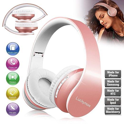Cascos Bluetooth Inalámbricos, Auriculares Diadema Over Ear Auriculares Inalambricos Bluetooth Casco Plegables Estéreo Musica Wireless Headphone con ...
