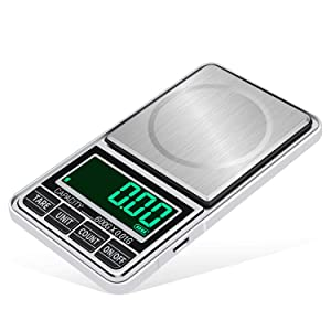 Pocket Scale, 600g /0.01g Mini Pocket Digital Kitchen Scales, Weight Grams and Oz for Cooking Baking, Portable Jewelry Weed Balance with USB Power Supply Auto Off 7 Units 6 Digits LCD Display