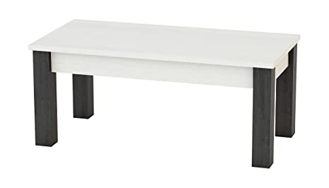 KR Decor MZ333 Mesa de Centro Rectangular, Roble, Blanco ...