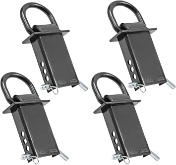4 Removable D-Ring Stake Pockets for Flatbed /& Utility Trailers with Pockets