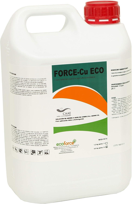 CULTIVERS Force-CU de 5 l. Fungicida de Cobre Ecológico. Mejora el Sistema de Defensa de la Planta contra el desarrollo de Enfermedades (5 L)