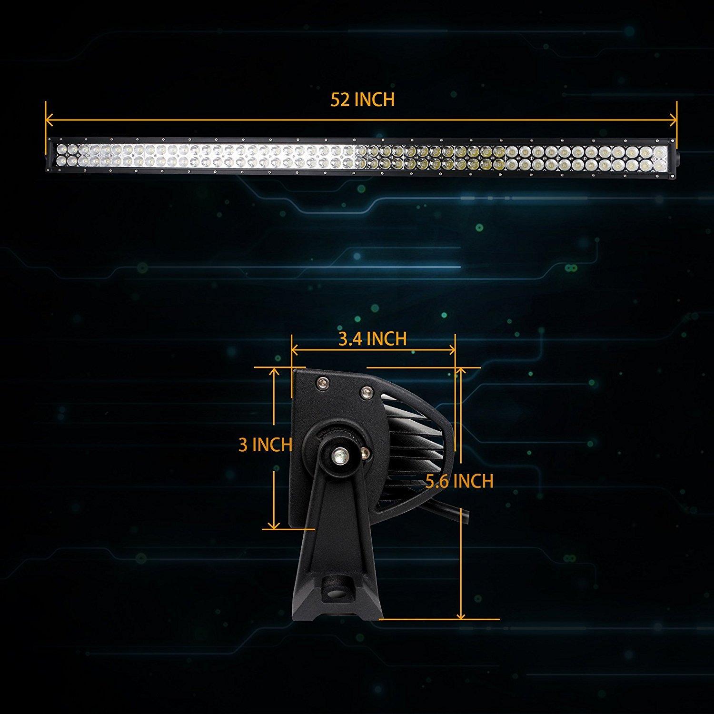 Jeep Wrangler JK 2005-2017 Windshield Led Light Bar+bracket+wiring harness+ light