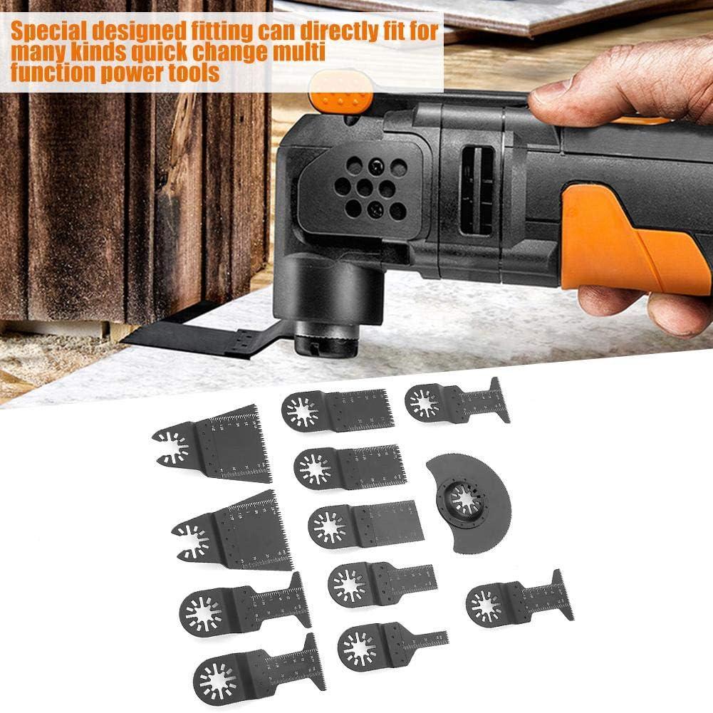 12 cuchillas de sierra oscilante est/ándar multiherramienta de liberaci/ón r/ápida cortador de herramientas