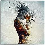 "Cortesi Home CH-CA181823 ""Deliberation"" By Mario Sanchez Nevada Gisele Canvas Wall Art, 18"" X 18"","
