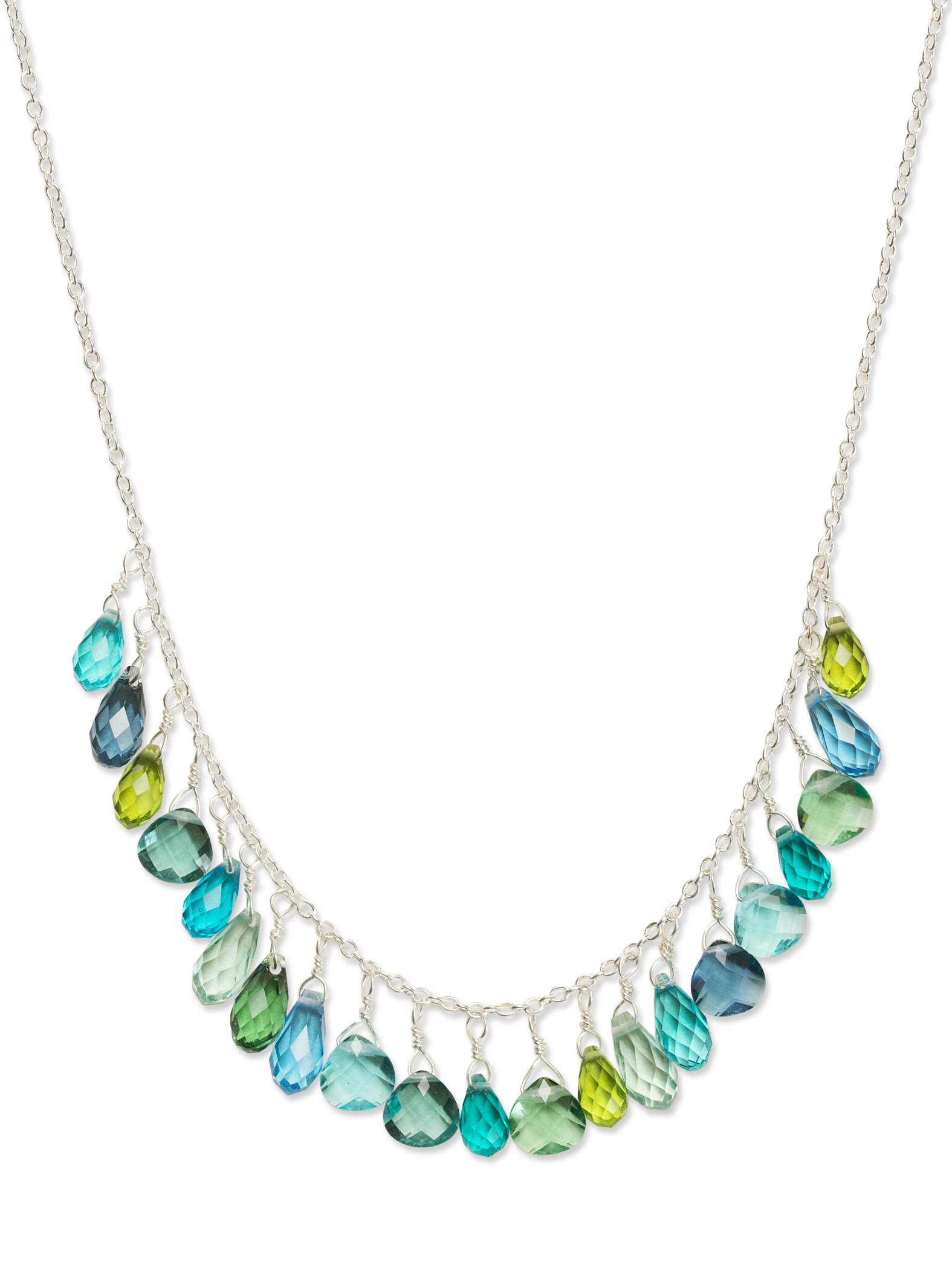 Holly Yashi Lorelei Necklace, Made in California (Aqua)