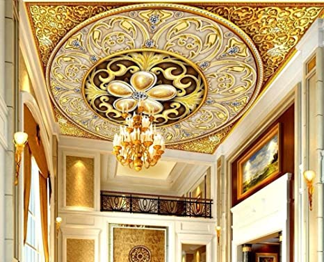 Buy Nostalagia Large 3d Ceiling Murals Fabric Wallpaper For