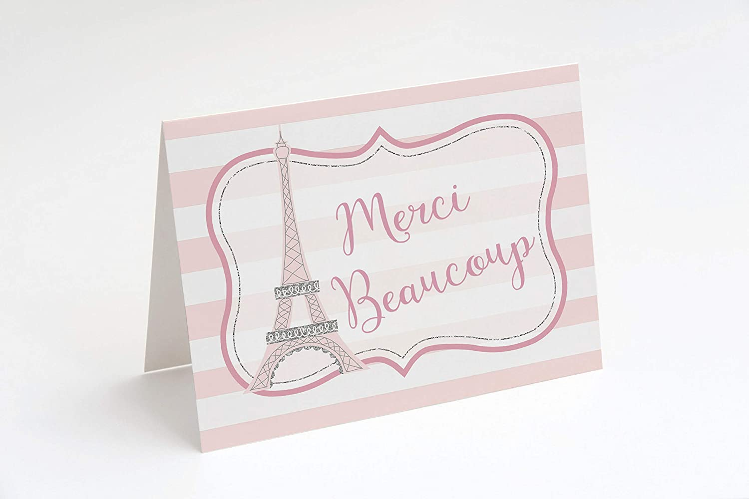 Paris birthday Flower Stickers PARIS Paris Bridal Shower Thank You Card Personalized Gift French Baby Shower Paris Greeting Cards