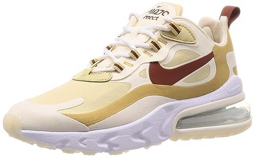 Nike W Air Max 270 React AT6174700 Colore: Bianco Oro