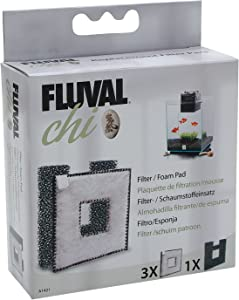Fluval Chi Filter Replacement- 3 Filter Cartridges and 1 Foam Biological Cartridge