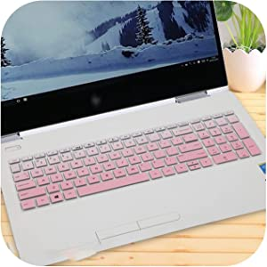 15 15.6 Inch Laptop Keyboard Cover Protector for Hp Envy X360 Bp Bq Ch Cn Cs Series with AMD Ryzen 5 2500U 2700U 15-Bq101Na-Fadepink-