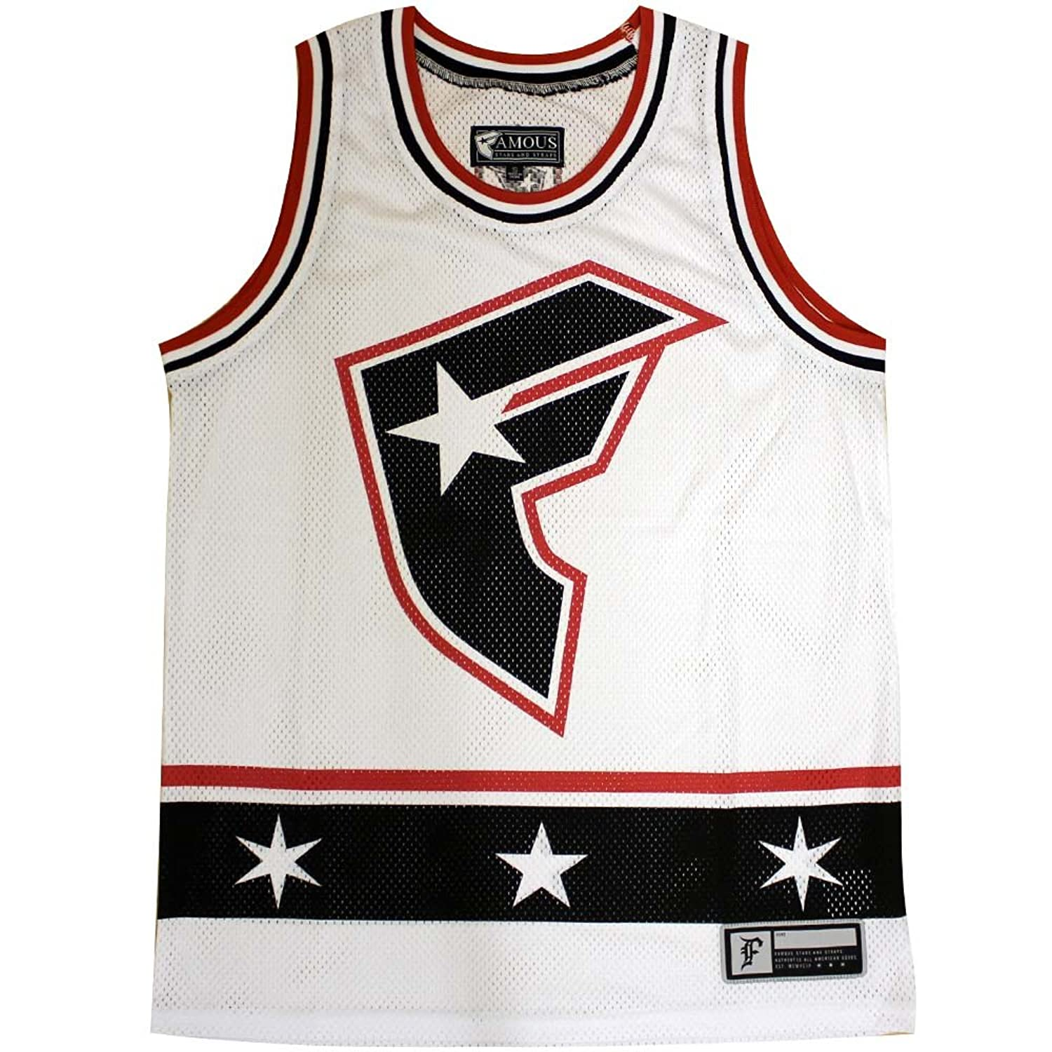 Famous Stars and Straps Baseline Tank Top White