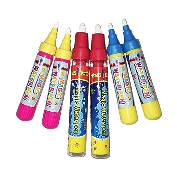 Magic Replacement Water Pen/Drawing Pen,Add Water Pen(6PCS)For Water