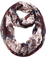 MissShorthair Women's Spring Fashion Light Weight Artistic Floral Infinity Scarf