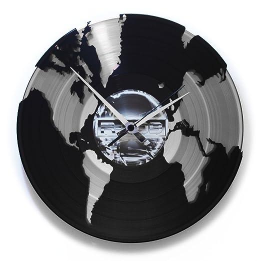 9 opinioni per Disc'o'Clock Orologio in Vinile World, Grigio