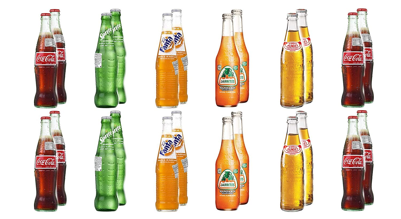 LUV BOX-Variety Soda Pack, 24 ct,original flavor of Coca-Cola,Sprite,Fanta,Jarritos Mandarin Soda & Sidral Mundet Apple Soda.