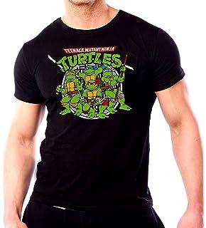 Tmnt la de 2016 Ninja fanático camiseta Turtles para hombre película negro cfzqXw