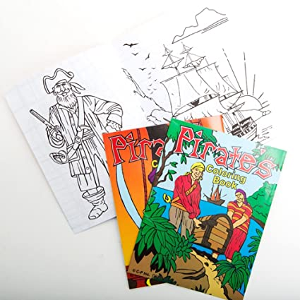 Amazon.com: Pirate Coloring Books (12 Pack): Toys & Games