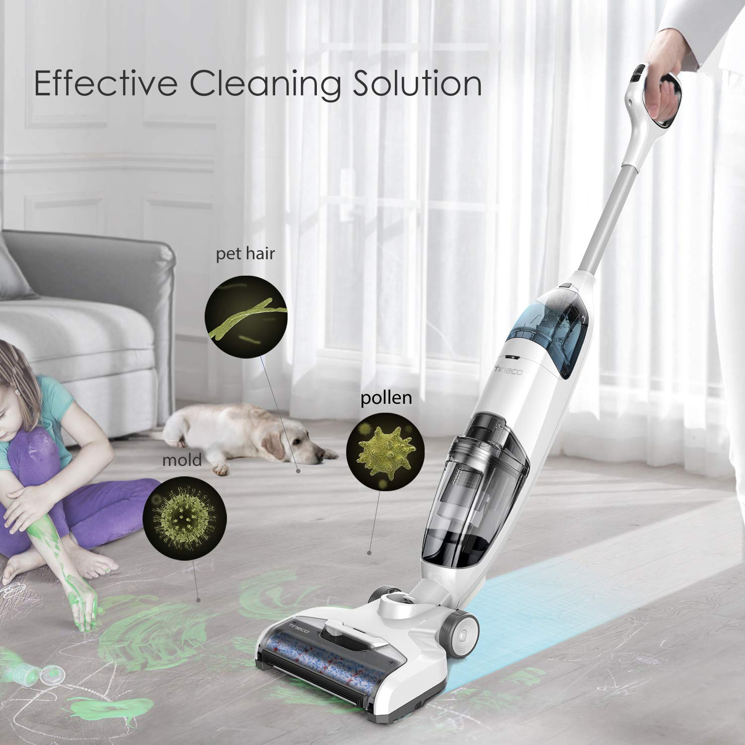Tineco iFloor Cordless Wet Dry Vacuum Cleaner Powerful and Lightweight Hard Floor Washer with Self-Cleaning Brush by Tineco (Image #4)