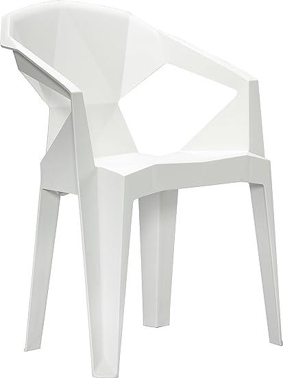 VIFAH V1715 Polypropylene Resin 3D Stacking Chair In White (Set Of 2)