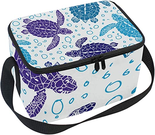 Sea Turtle Lunch Bag CUTE WOMENS or GIRLS Lunchbox Cooler