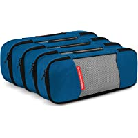 Gonex Packing Cubes Travel Organizer Cubes for Luggage 4 Slim Deep Blue