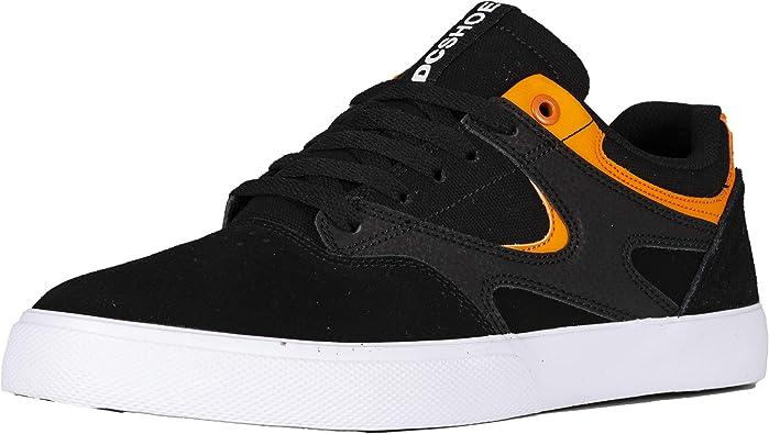 DC Kalis Vulc S ADYS300576 Mens Black Suede Skate Sneakers Shoes