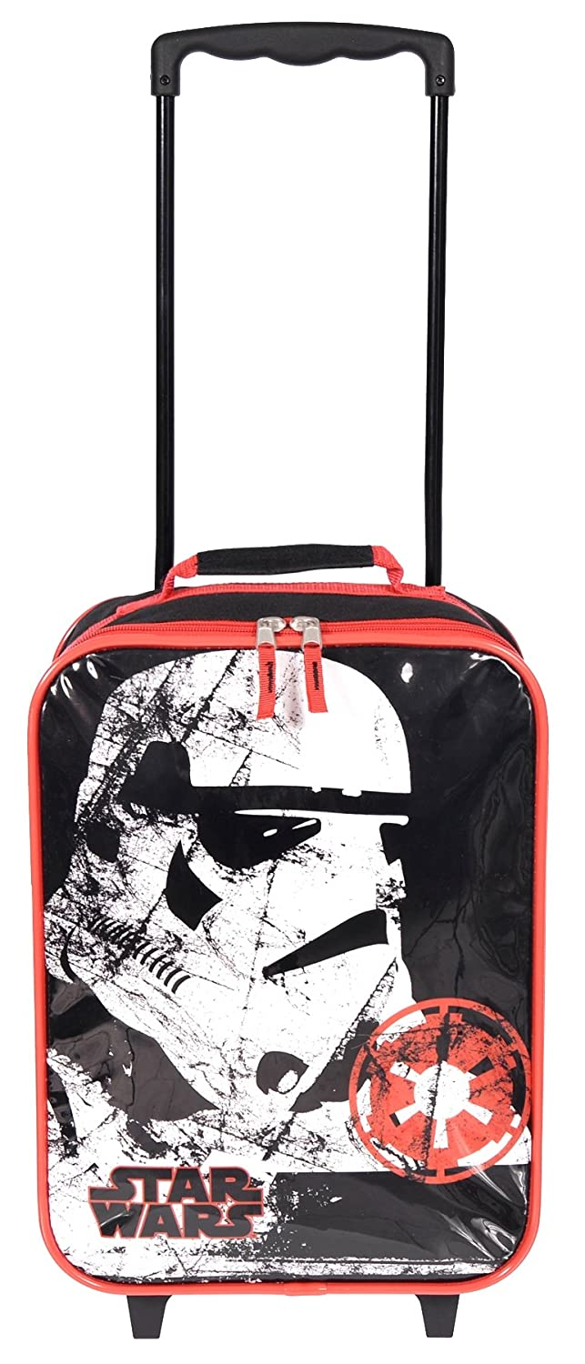 Disney Star Wars Boys' Soft Side Rolling Suitcase with Extendable Handle