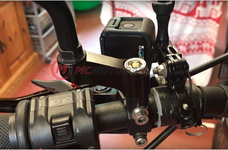 Adaptador extensor de espejo negro CNC de 10 mm para Yamaha MT-07 ...