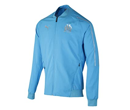 6dff330250 Amazon.com : PUMA 2018-2019 Olympique Marseille Woven Jacket (Blue) :  Sports & Outdoors