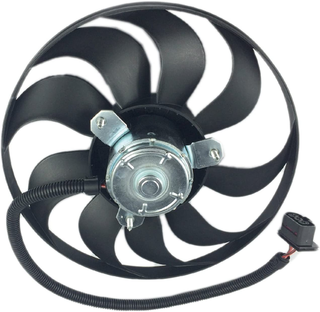 250//60W - 345mm Dia Left 6X0-959-455F MTC 4429 for Audi // Volkswagen Models MTC 4429 // 6X0-959-455F Engine Cooling Fan Motor