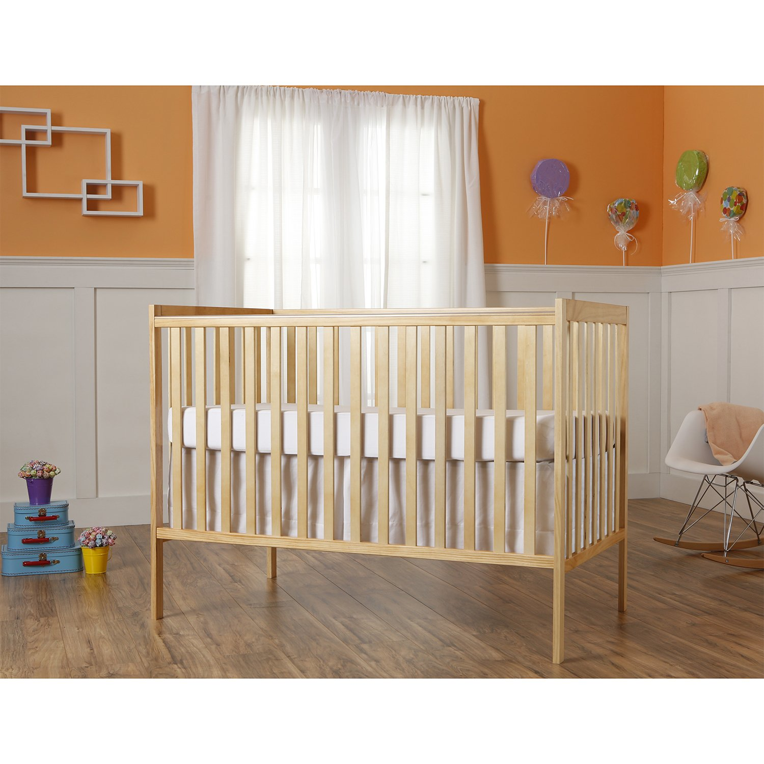 Dream On Me Synergy 5-in-1 Convertible, Crib, Natural by Dream On Me (Image #3)