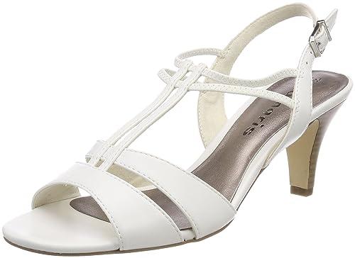Tamaris 28304 Sandali con Cinturino alla Caviglia Donna Bianco White