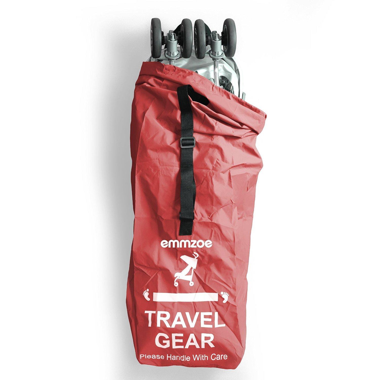 Hand//Shoulder Strap Emmzoe Premium Umbrella Stroller Airport Gate Check Travel Storage Bag Features Durable Nylon Foldable Pouch Blue