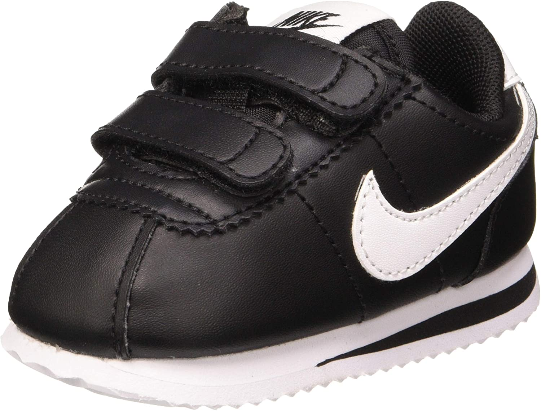 llorar comodidad Pila de  Amazon.com | Nike Cortez Basic SL Toddler's Shoes White/Black 904769-102 |  Sneakers
