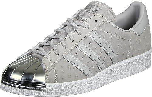 adidas Superstar 80s Metal Toe W chaussures ,Gris ,41 13 EU