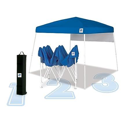 Amazon.com: E-Z UP Dome, 10x10, Royal Blue Top w/ White Frame ...
