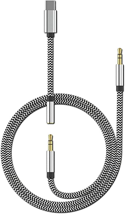 Headphone Cord for Pixel 2//2XL//3//3XL Samsung 3-in-1 Type C to 3.5mm Audio Aux Jack Adapter ZJSM USB-C Male to 3.5mm Female Car Stereo Earphone Converter with Hi-res//DAC Essential PH-1 ipad pro