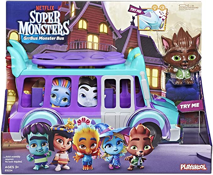 Super Monsters Netflix GrrBus Monster Bus: Amazon.es: Juguetes y juegos