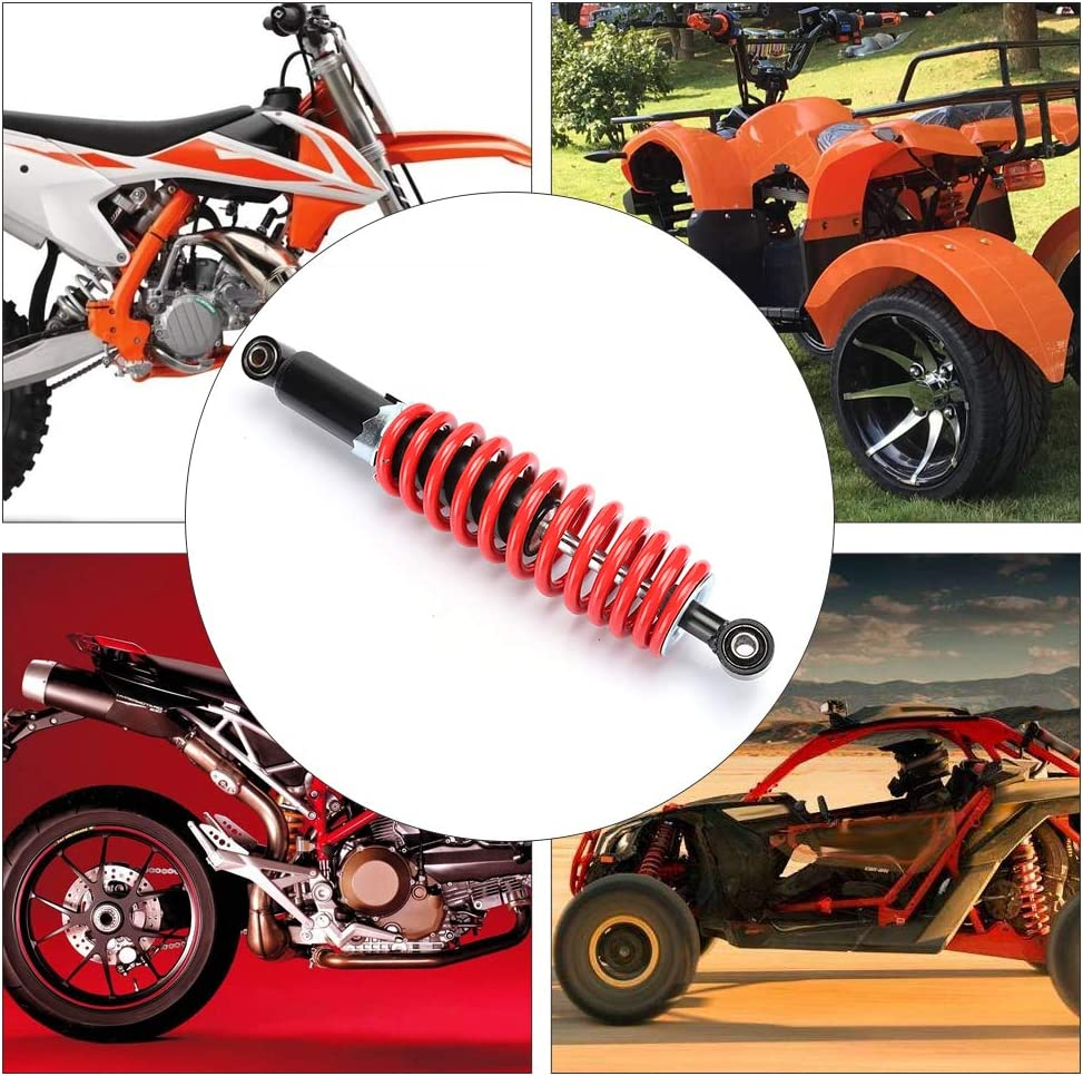 passend f/ür Dune Buggy Quad Dirt Bike ATV Sto/ßd/ämpfer hinten 350 mm Universal-Sto/ßd/ämpferaufh/ängung