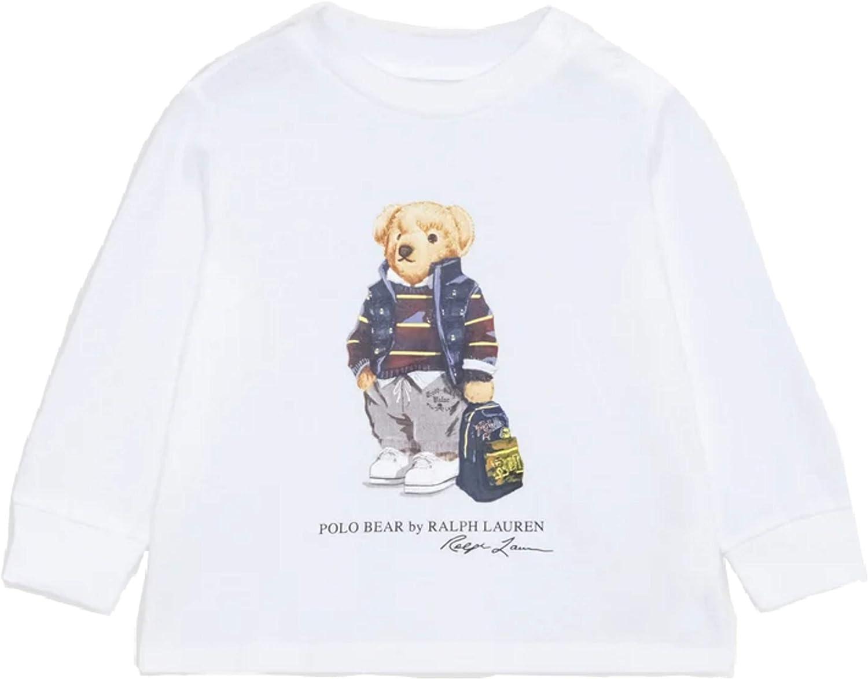 Polo Ralph Lauren - 320805681001 Camiseta Blanca Oso ...