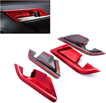 2Pcs ABS Co-pilot Storage Box Handle Cover Trim Fit For Toyota Camry 2018