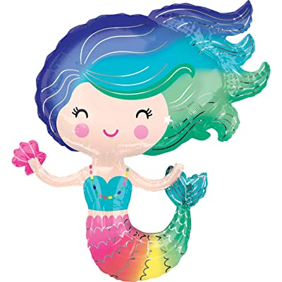 "amscan Mayflower Products Colorful Mermaid 30"" Balloon (1): Toys & Games"