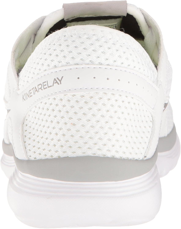 Saucony Men's Kineta Relay Running Shoe White/Grey