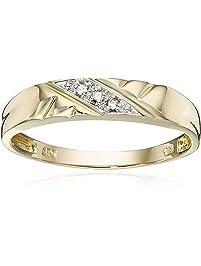 10k Yellow Gold Diamond-Accent Wedding Band
