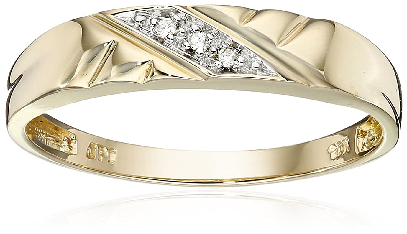 10k Yellow Gold Diamond-Accent Wedding Band Amazon Collection J62742RD-060-Parent