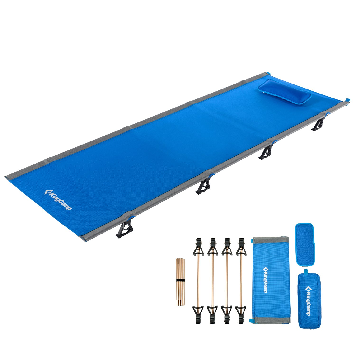 2 kg //4.4 Pounds KingCamp Ultralight Compact Folding Camping Tent Cot Bed