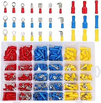 900-tlg Flachstecker Set Kabelschuhe Sortiment Quetschverbinder Flachsteckhülsen