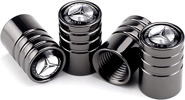 CaserBay Titanium Black Chrome Car Wheel Tire Valve Stem Caps Logo Emblem Decoration For Car Styling 4 Pcs Set【Titanium Black Middle Finger】